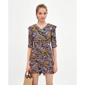 Zara Print Mini Dress